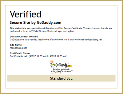 Forums / Admin Announcements / Go Daddy Secure Site Certificate